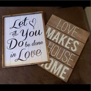 Home Wall Decor Signs / Rustic Wood